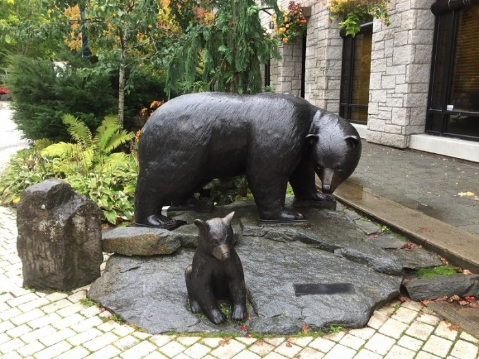 Bear Statue in Whistler Village