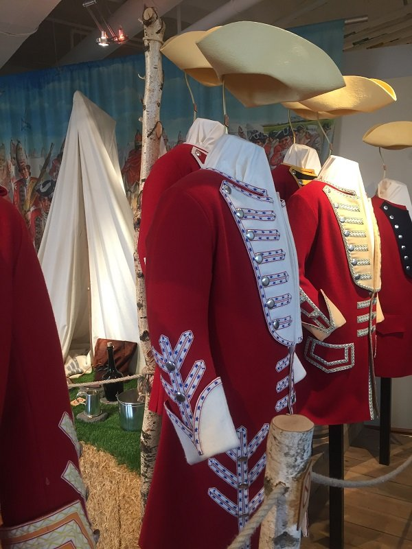 A Display of Uniforms in the Plains of Abraham Museum