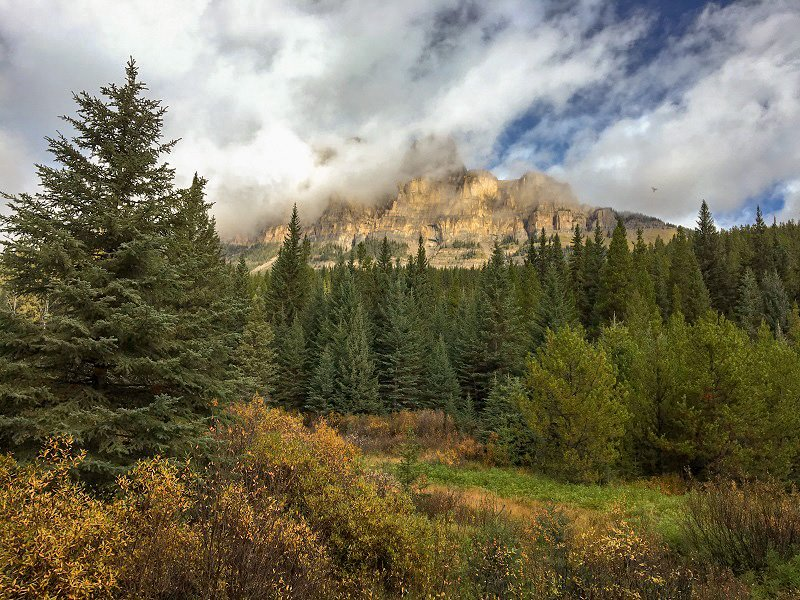 Castle Mountain on the Bow Valley Parkway