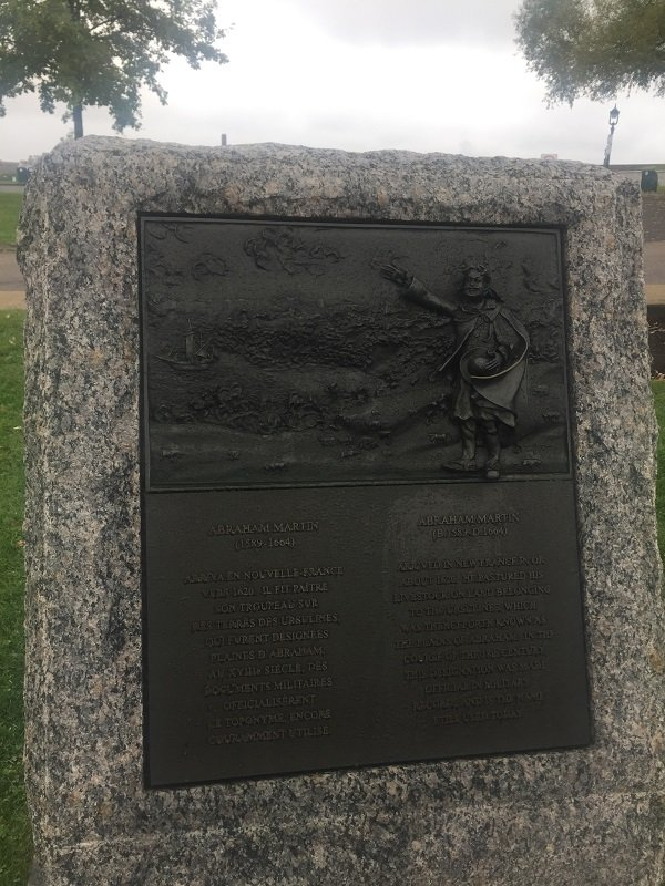 Plains of Abraham Plaque