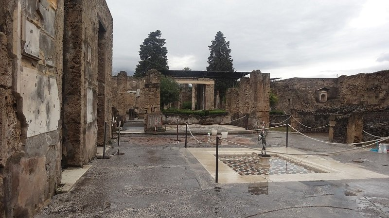 Visiting the ruins at Pompeii was one of the highlights of our trip