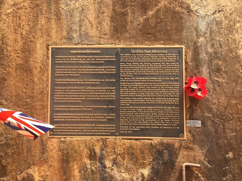 Hellfire Pass Memorial Plaque