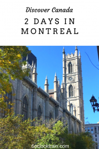 An itinerary for 2 days in Montreal, Canada. See the top sights and attractions and make the most of your stay in the city. #Canada #Montreal