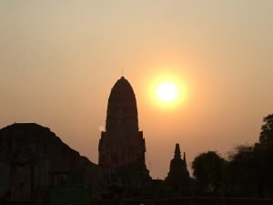 Ayutthaya Itinerary Sunset at Wat Ratchaburana