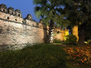 Chiang Mai Wall at Night