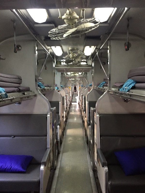 2nd Class Sleeper Compartment on the Bangkok to Penang Train