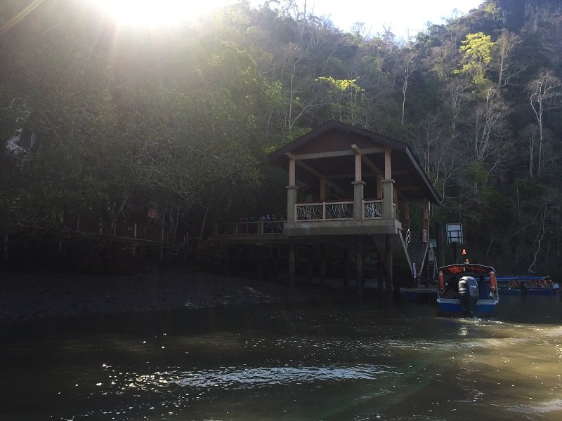 Langkawi Mangrove Tour Arriving at the first stop