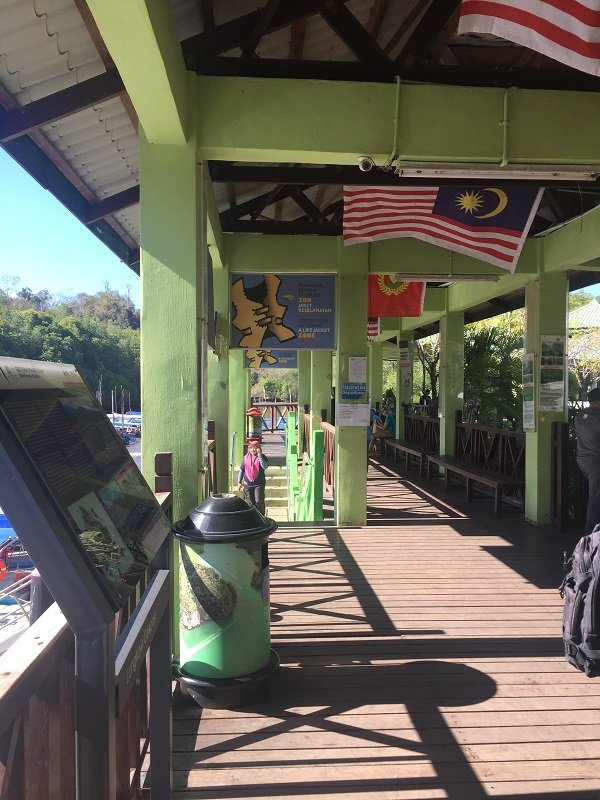 Langkawi Mangrove Tour At the Jetty to board the boat