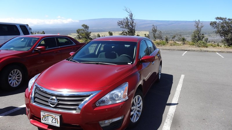 Our car for touring Hilo Hawaii Big Island