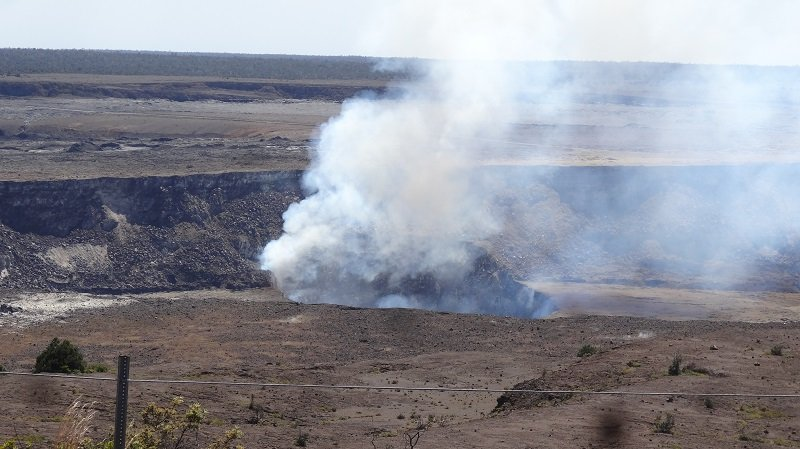 Close up view of an Active Volcano